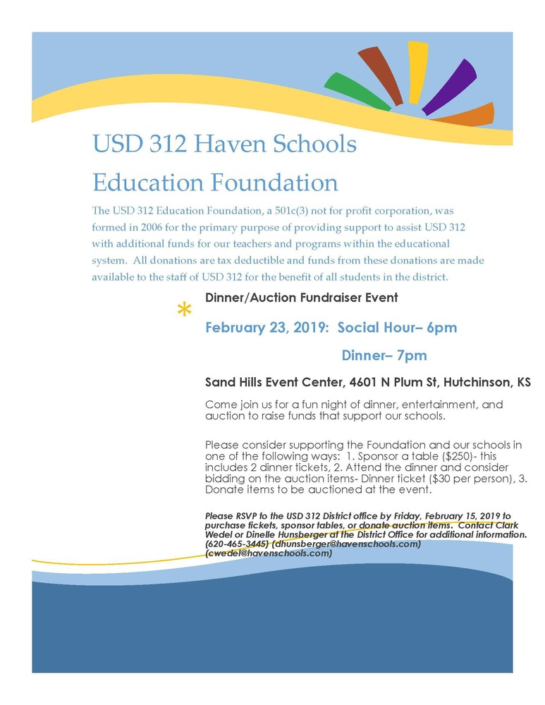 USD 312 Education Foundation Dinner/Auction