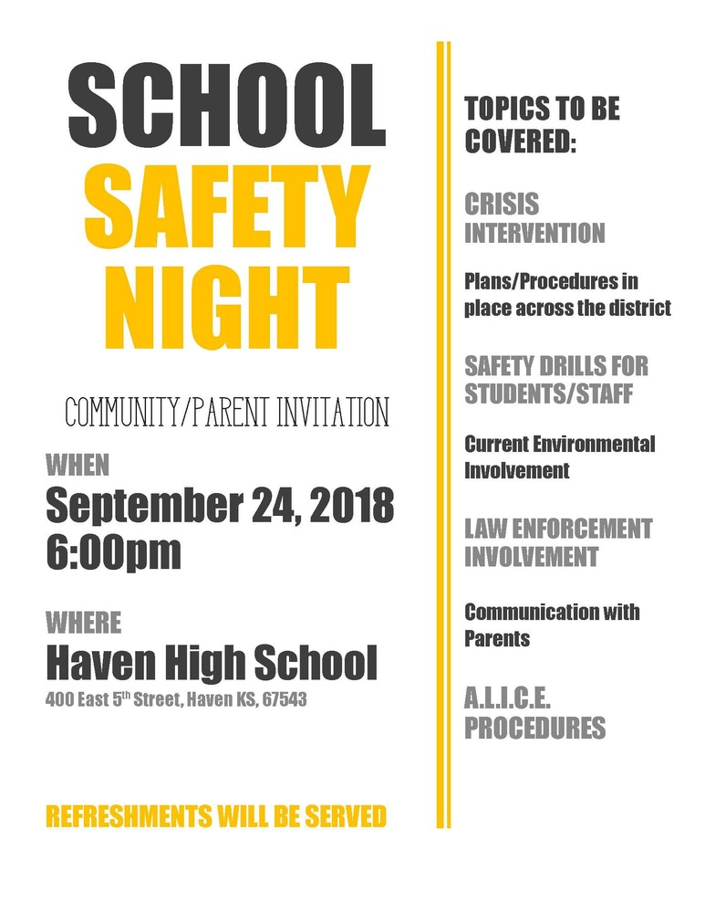 USD 312 School Safety Night