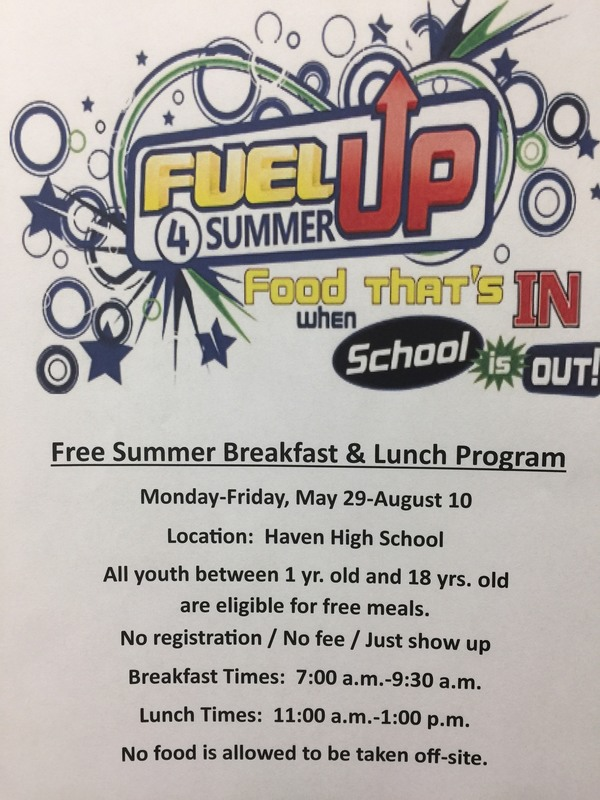 Summer Breakfast and Lunch Program